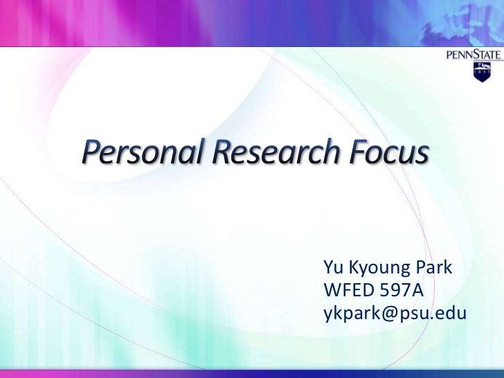 Yu Kyoung ParkWFED 597Aykpark@psu.edu