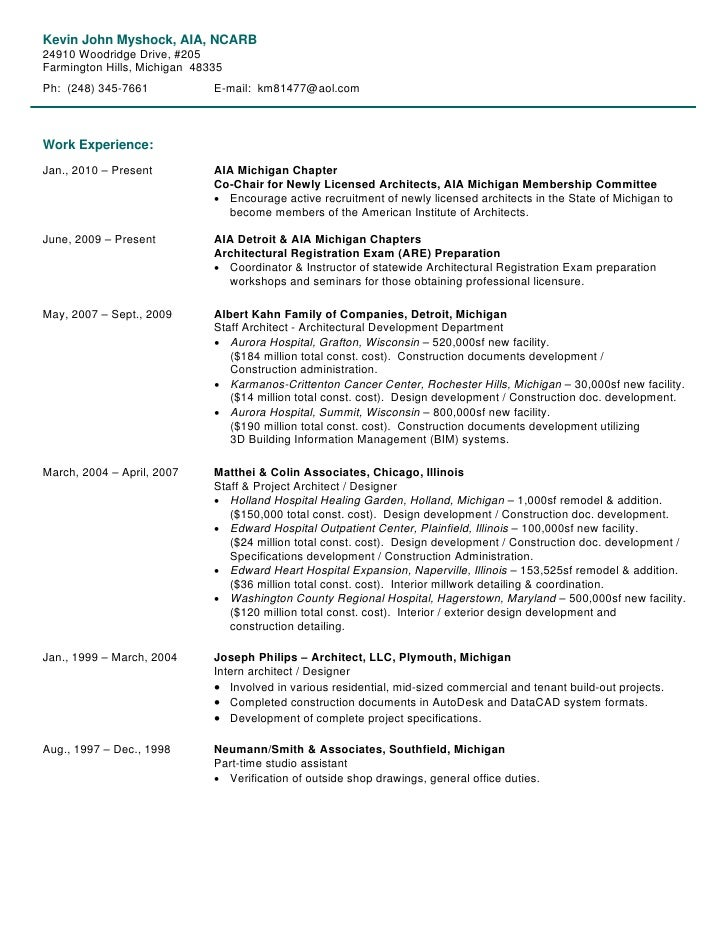 Personal Resume & Work Samples