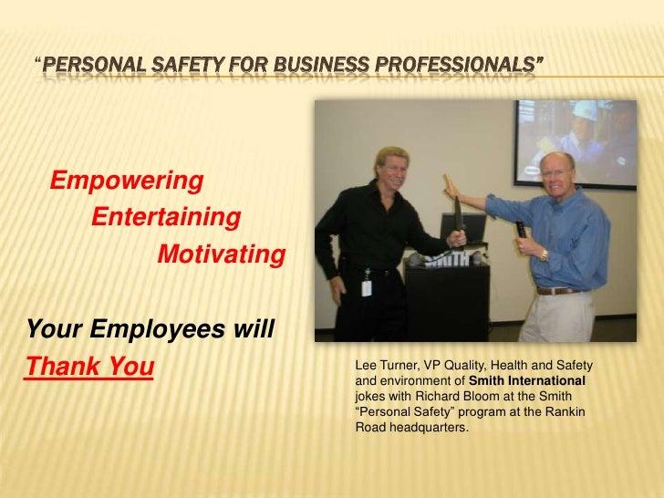 Personal Safety Training  Employees.Slideshow