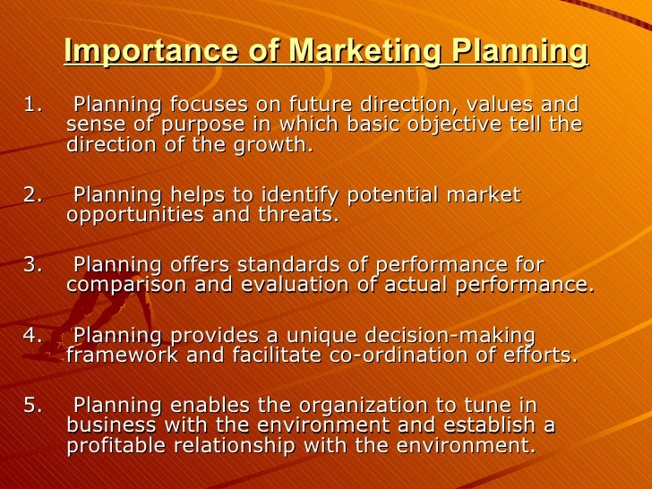 the importance of marketing plan in The critical role of marketing  is almost impossible to overstate the importance of marketing  are made using the marketing mix, the plan is then implemented.