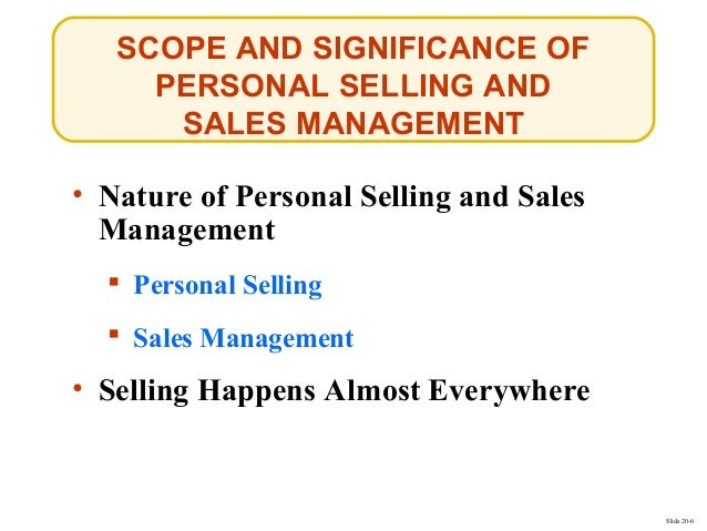 personal selling and sales management Businesses that thrive excel in sales management this guide will  after all,  selling is an ongoing process: most people don't buy right away in the same way .