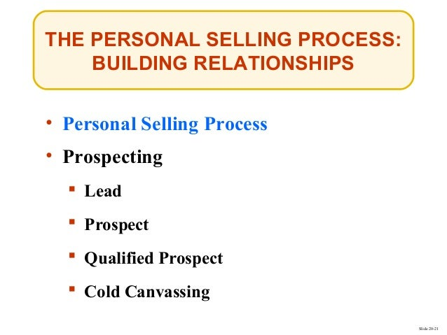 chapter 9 personal selling relationship building and sales management