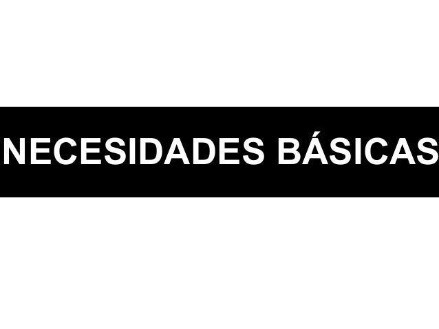 NECESIDADES BÁSICAS