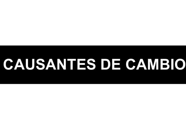 CAUSANTES DE CAMBIO