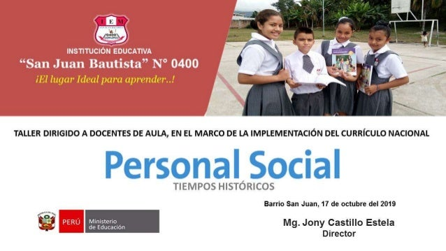 "INSTITUCIÓN EDUCATIVA ""San Juan Bautista"" N° 0400"