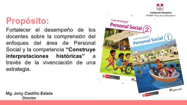 Personal social en el Marco del Currículo Nacional Slide 2