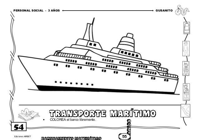 Medios De Transporte Maritimo Para Colorear Cómo Y Por Donde Se