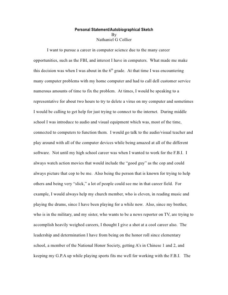 Personal Statement For Computer Science Citem