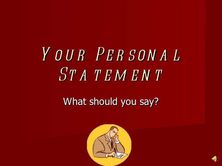 Personalstatement