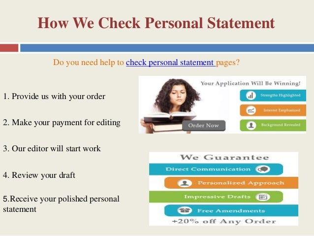 check my personal statement online