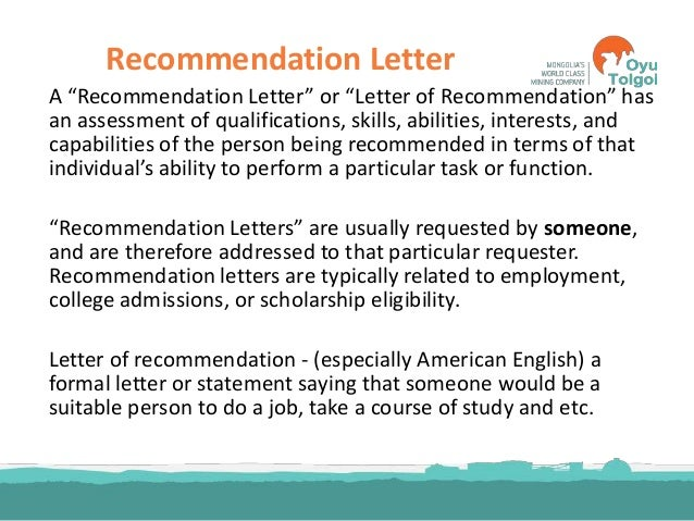 ... Recommendation Formal Letter Recommendation. Letters .