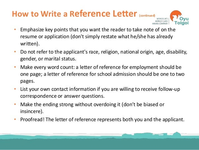 ... Reference Letter? 22.