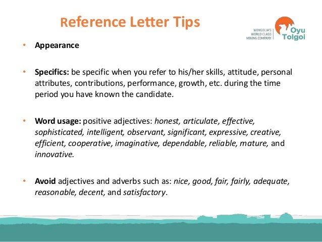 adjectives to use in letter of recommendation   Nadi.palmex.co