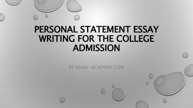 Writing personal essay for college admission myself