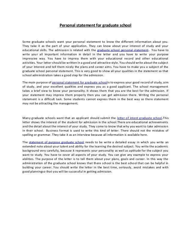 grad school personal essay
