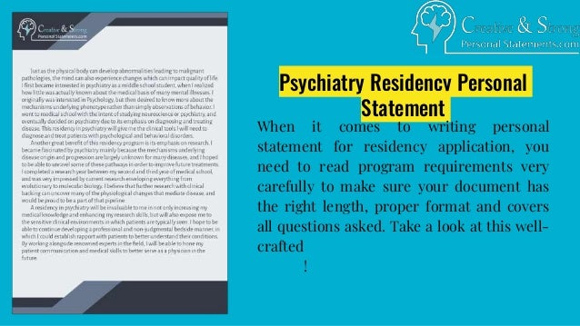 Well-Crafted Personal Statement for Residency Examples