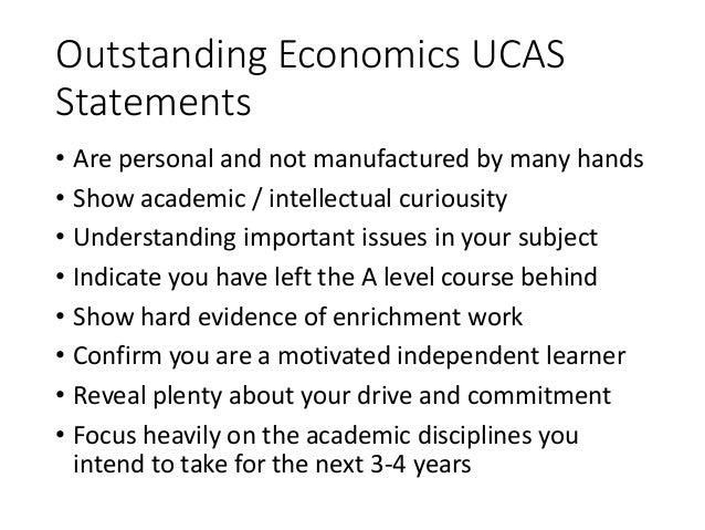 Economics personal statement advice