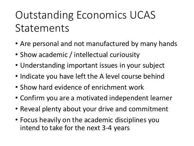 Economics personal statement advice