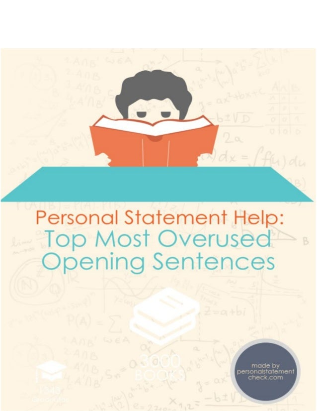 A General Procedure of Completing Personal Statements