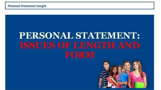 Personal Statement Part of the UCAS application process requires     SlideShare