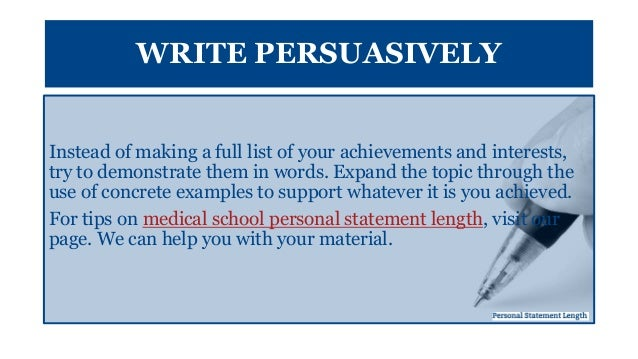 personal statements for medical school admissions