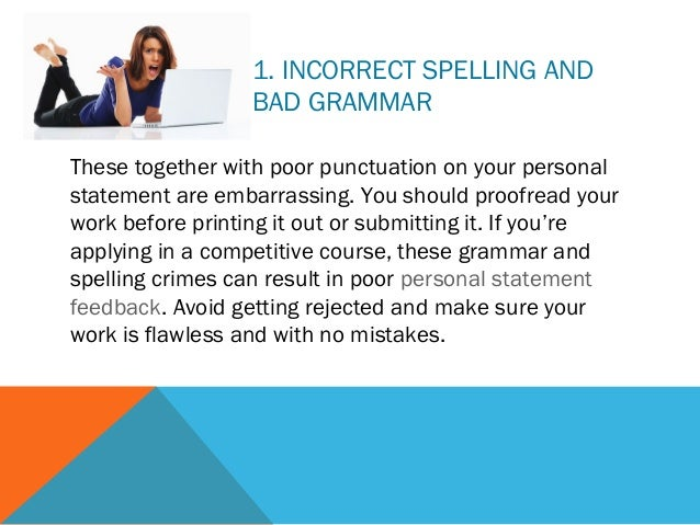Personal statement mistakes