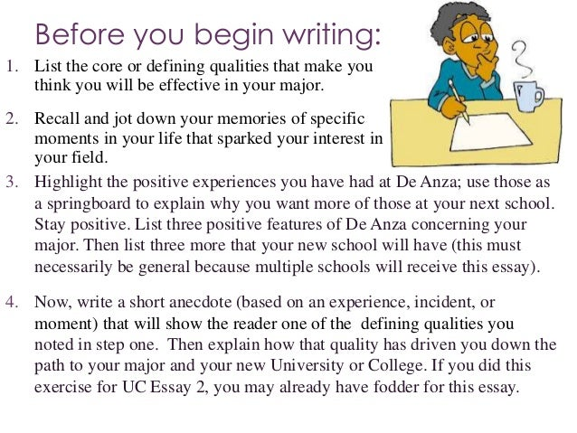 Example uc essay prompt 1