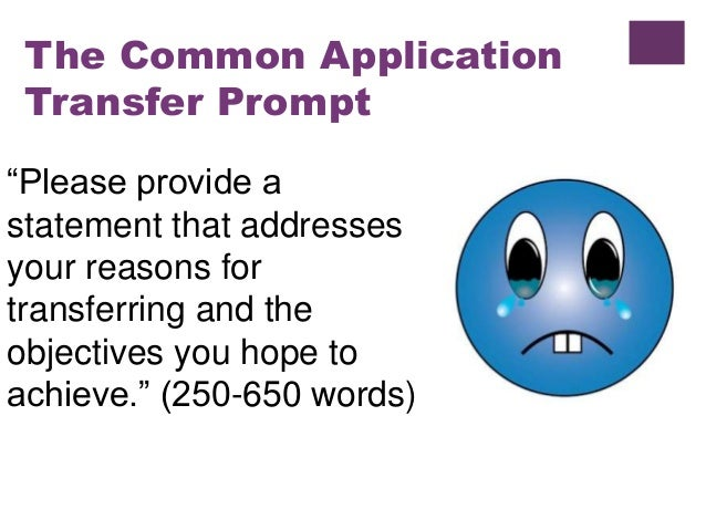 essay on transferring Transfer admissions each year we welcome nearly 2,000 transfer students to the uw–madison these students decided to join us for a variety of reasons and from a.