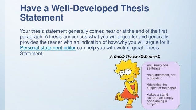 Thesis revision