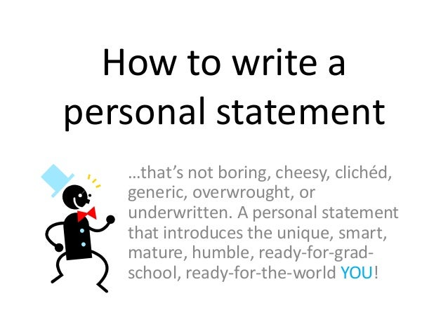 How to write a personal statement for graduate school