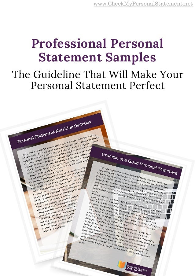 The Guideline That Will Make Your Personal Statement Perfect