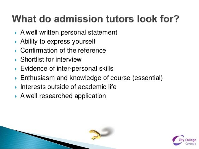 Personal statements ccc update new 2014 – Personal Statements