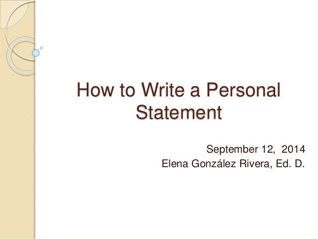 personal statement definition