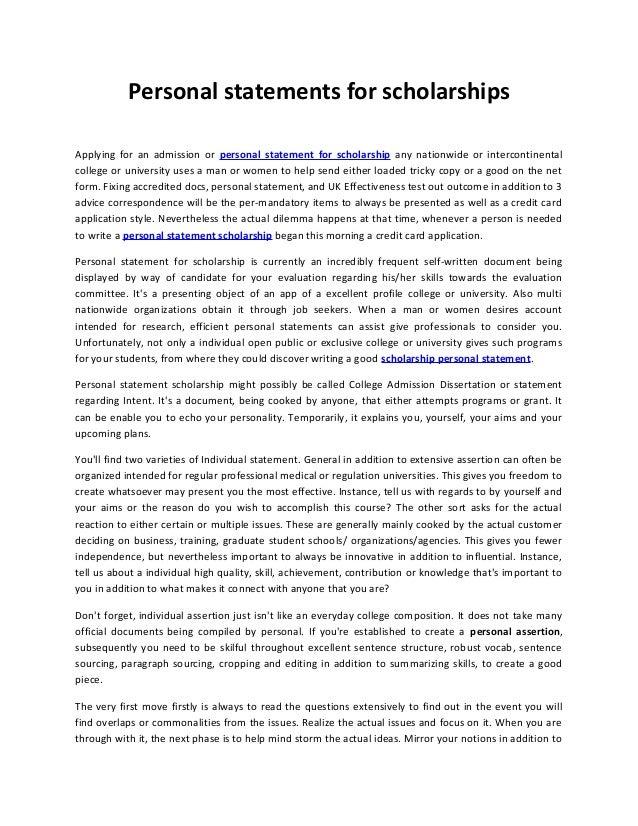 personal statement essay example for scholarships - Ataum berglauf