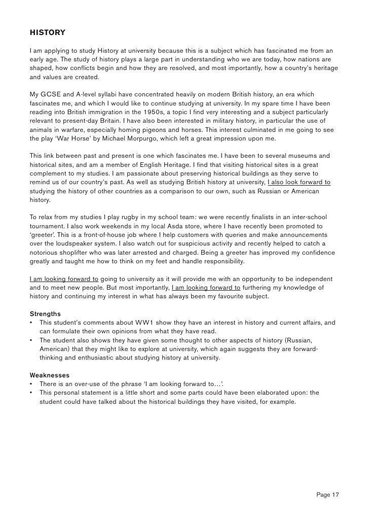 writing a short personal statement
