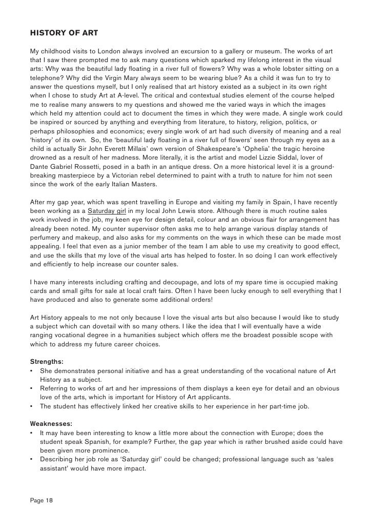 personal statement history and english Use this sample history of art personal statement to provide inspiration and an example of how to write your own history of art personal statement.
