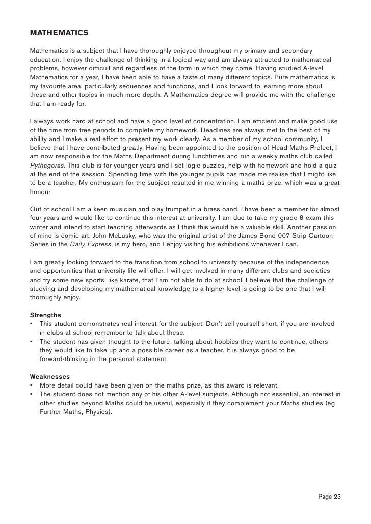 personal statements for teachers