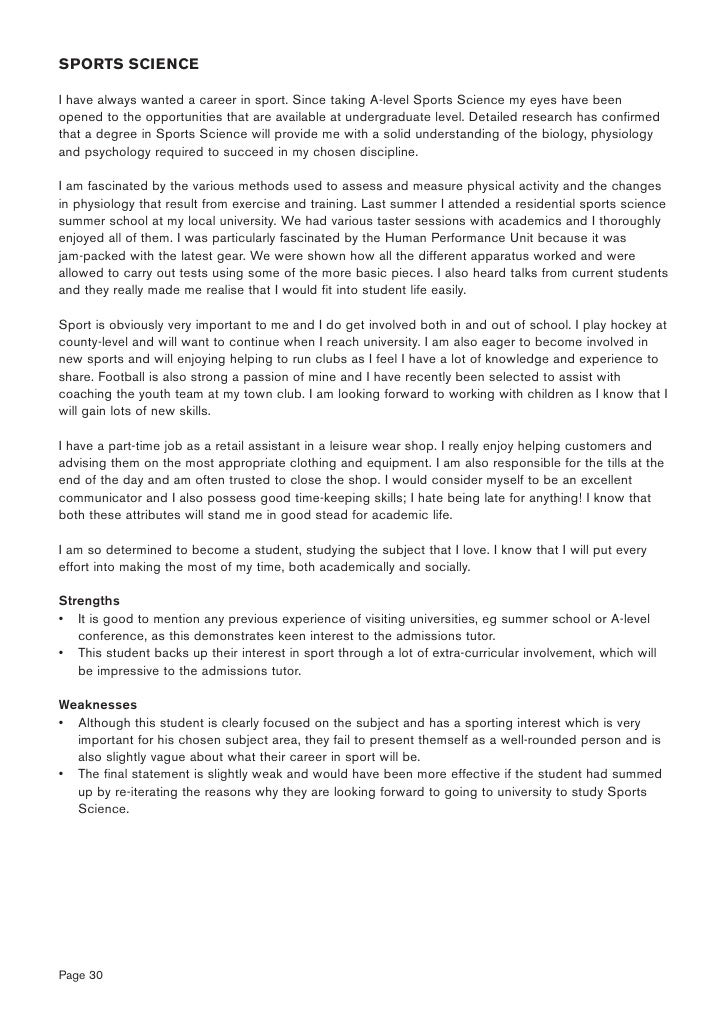 Personal statement guide