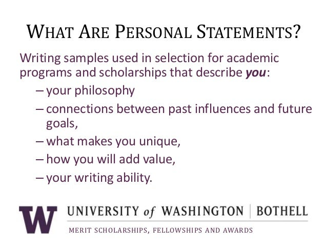 how to write a personal statement for scholarship applications