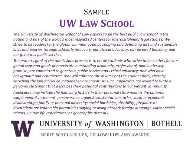 Law school supplemental essay