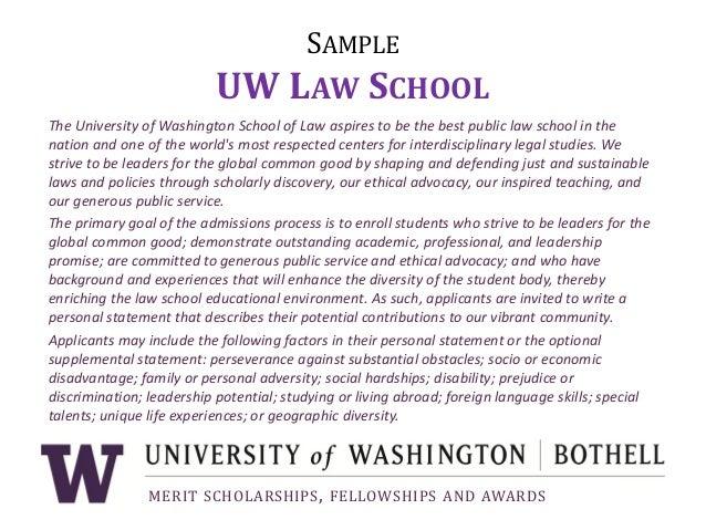 personal statement example university