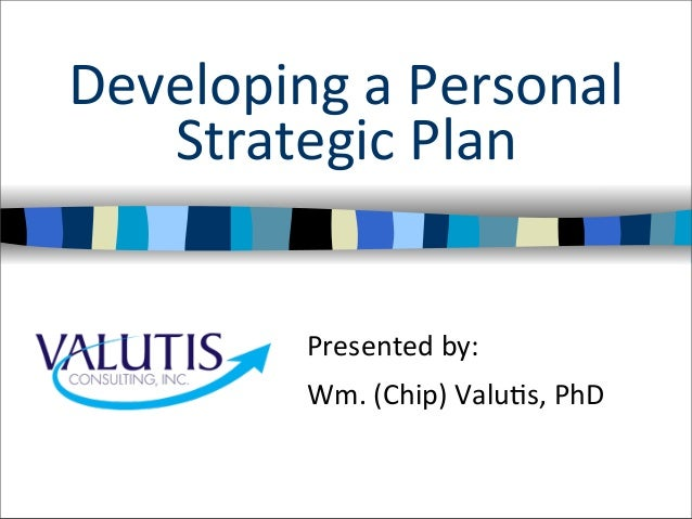 Personal Strategic Plan Template  BesikEightyCo