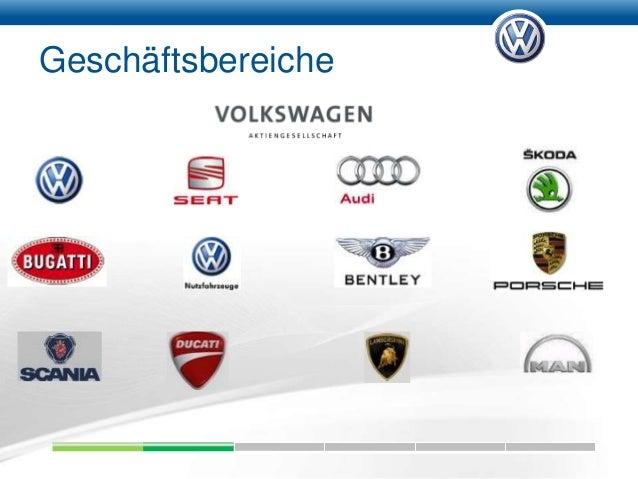 Geschäftsbereiche; 6. Rechtliche Unternehmensstruktur VW AG •  Konzernleitung durch Vorstand Muttergesellschaft ...