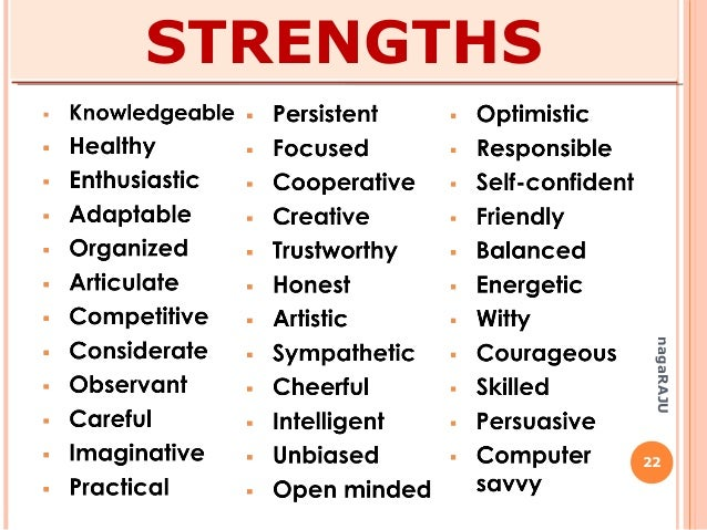 list professional strengths snapwit co