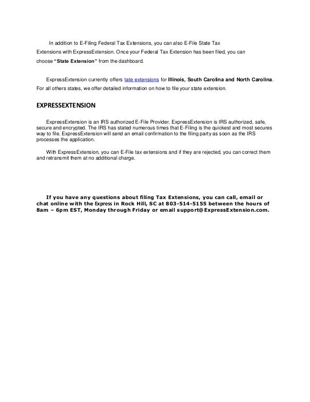 Personal Tax Extension Form 4868