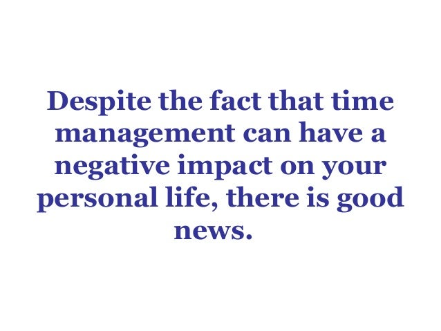 Why Your Life Depends on Time Management