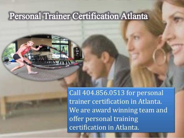 Personal trainer certification atlanta Slide 2