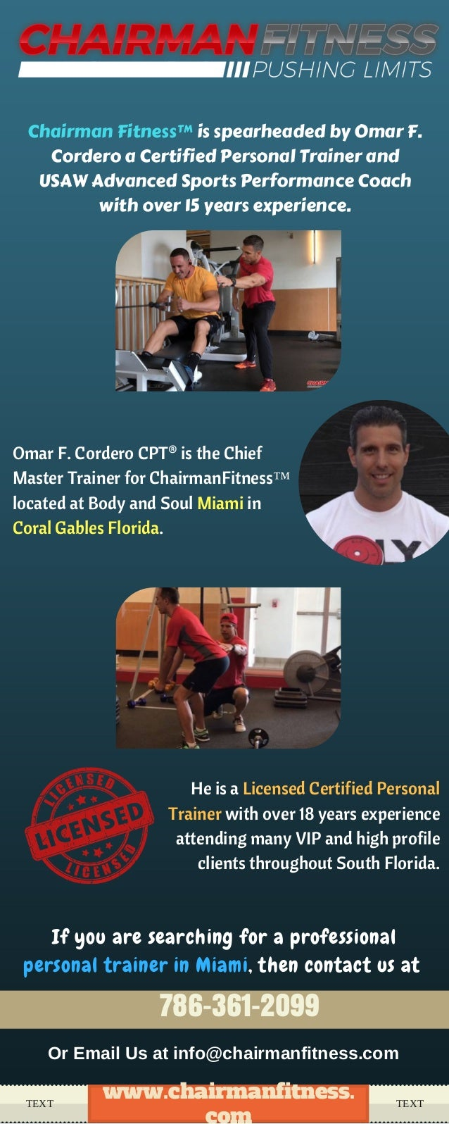 Best personal trainer in miami at chairman fitness omar f cordero cpt is the chief master trainer for chairmanfitness located at 1betcityfo Image collections