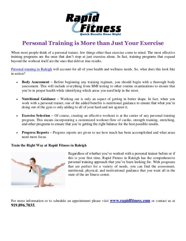 Personal Training Is More Than Just Your Exercise