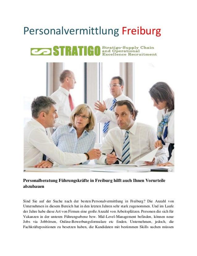 Personalvermittlung Freiburg  Personalberatung Führungskräfte in Freiburg hilft auch Ihnen Vorurteile abzubauen Sind Sie a...